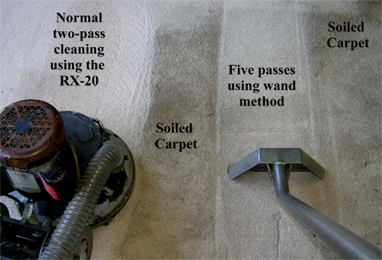 PHOENIX CARPET CLEANER, USING RX-20